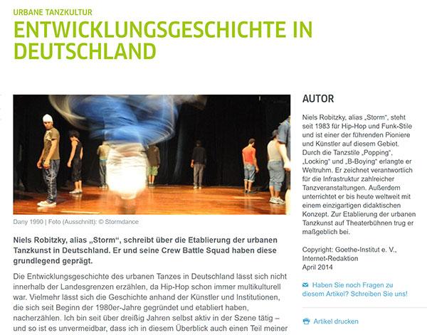 Urbane Tanzkultur: Entwicklungsgeschichte in Deutschland
