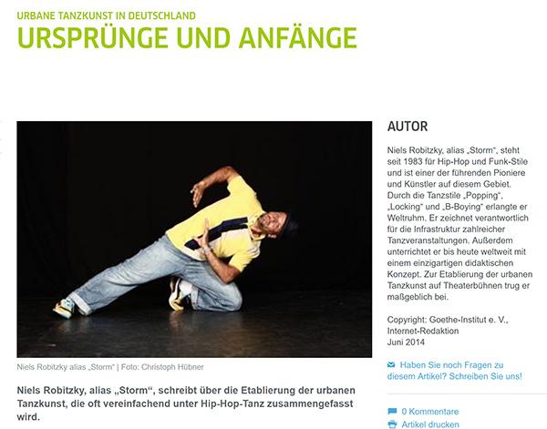 Urbane Tanzkunst: Ursprünge und Anfänge